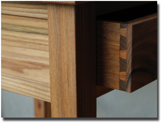 occasional table dovetail detail