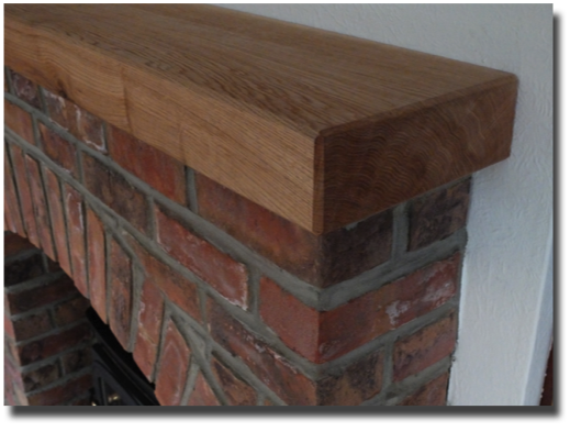 oak mantlepiece detail