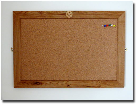 noticeboard with button logo
