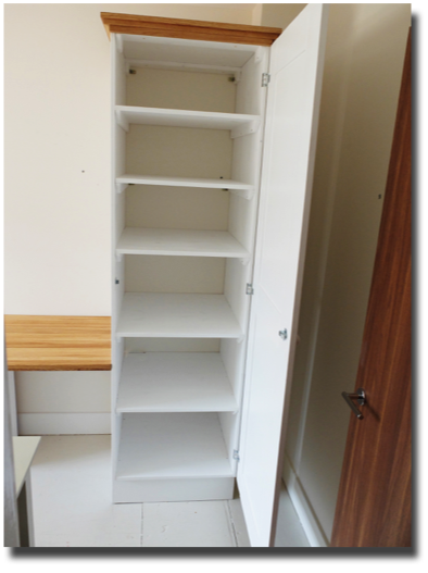tall cupboard interior