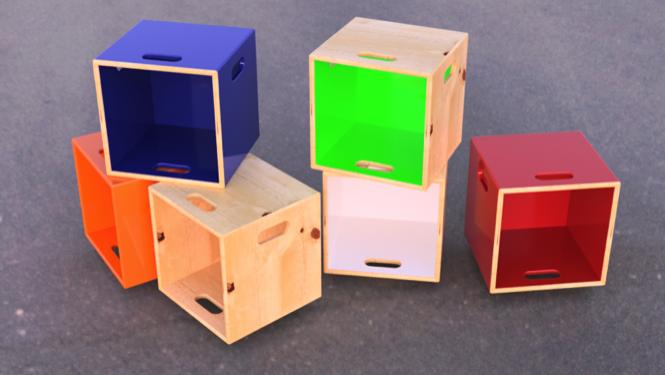 Vinyl Record Storage Cubes